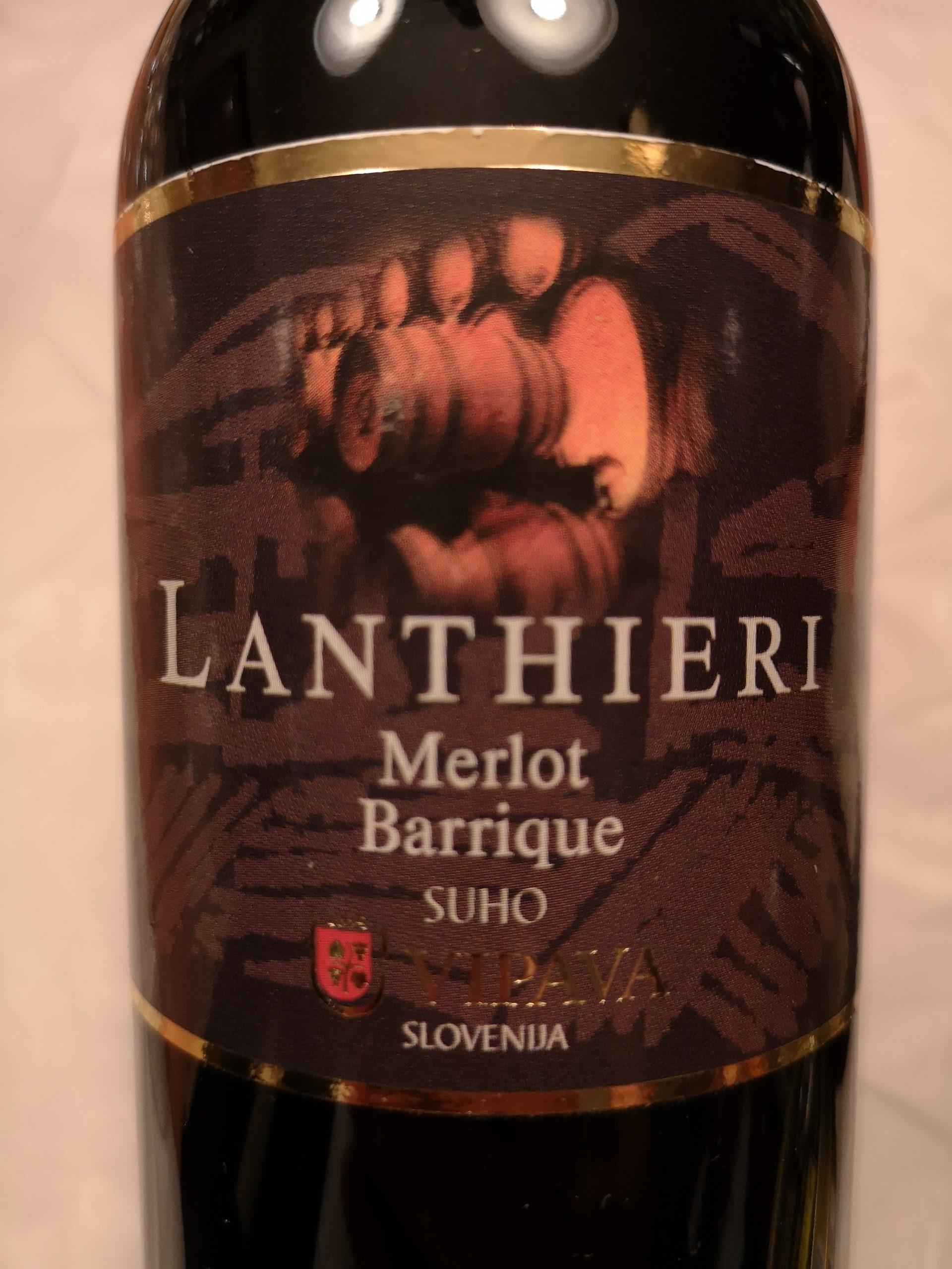 1996 Merlot Barrique Lanthieri | Vipava