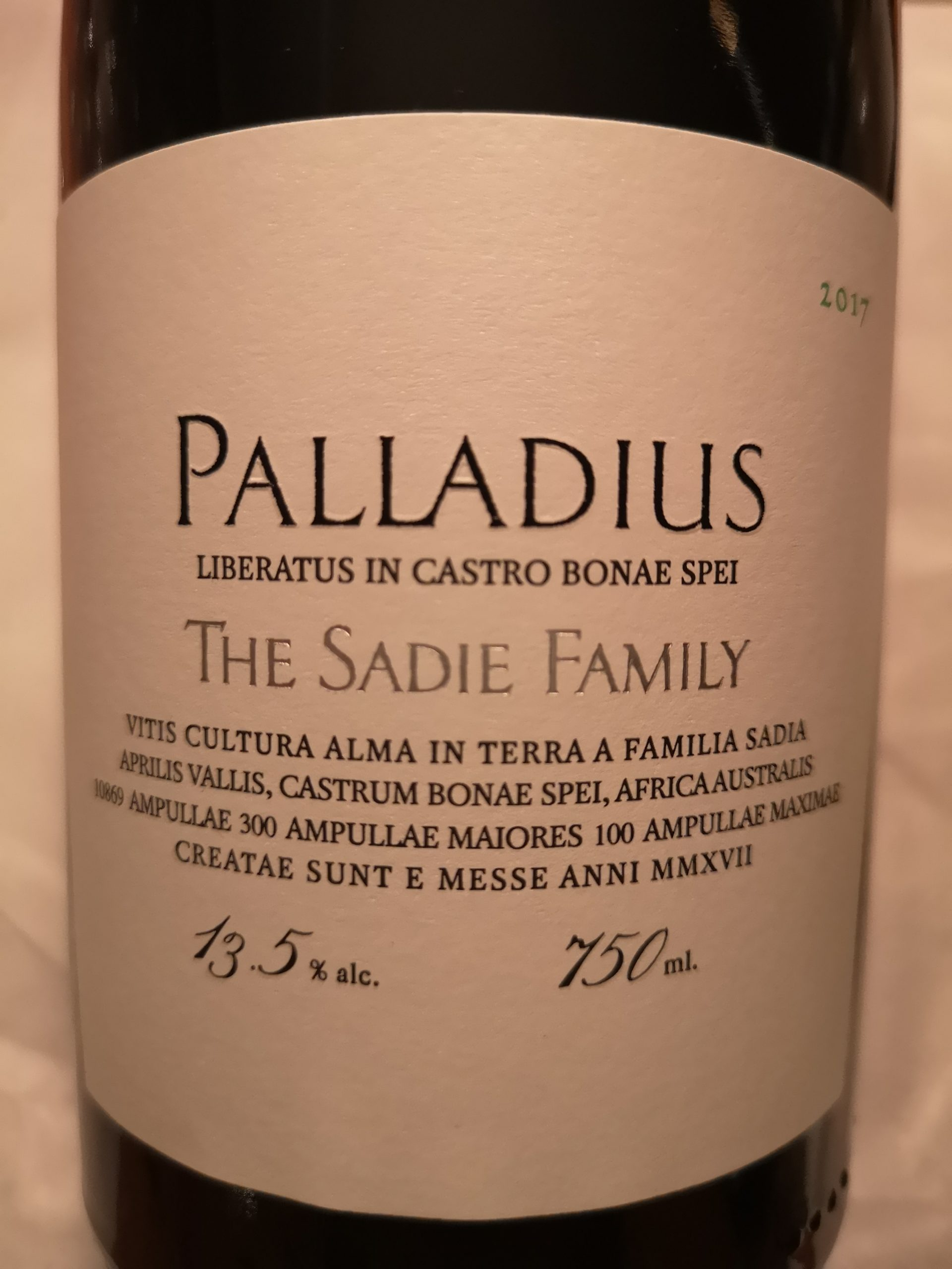 2017 Palladius | Sadie
