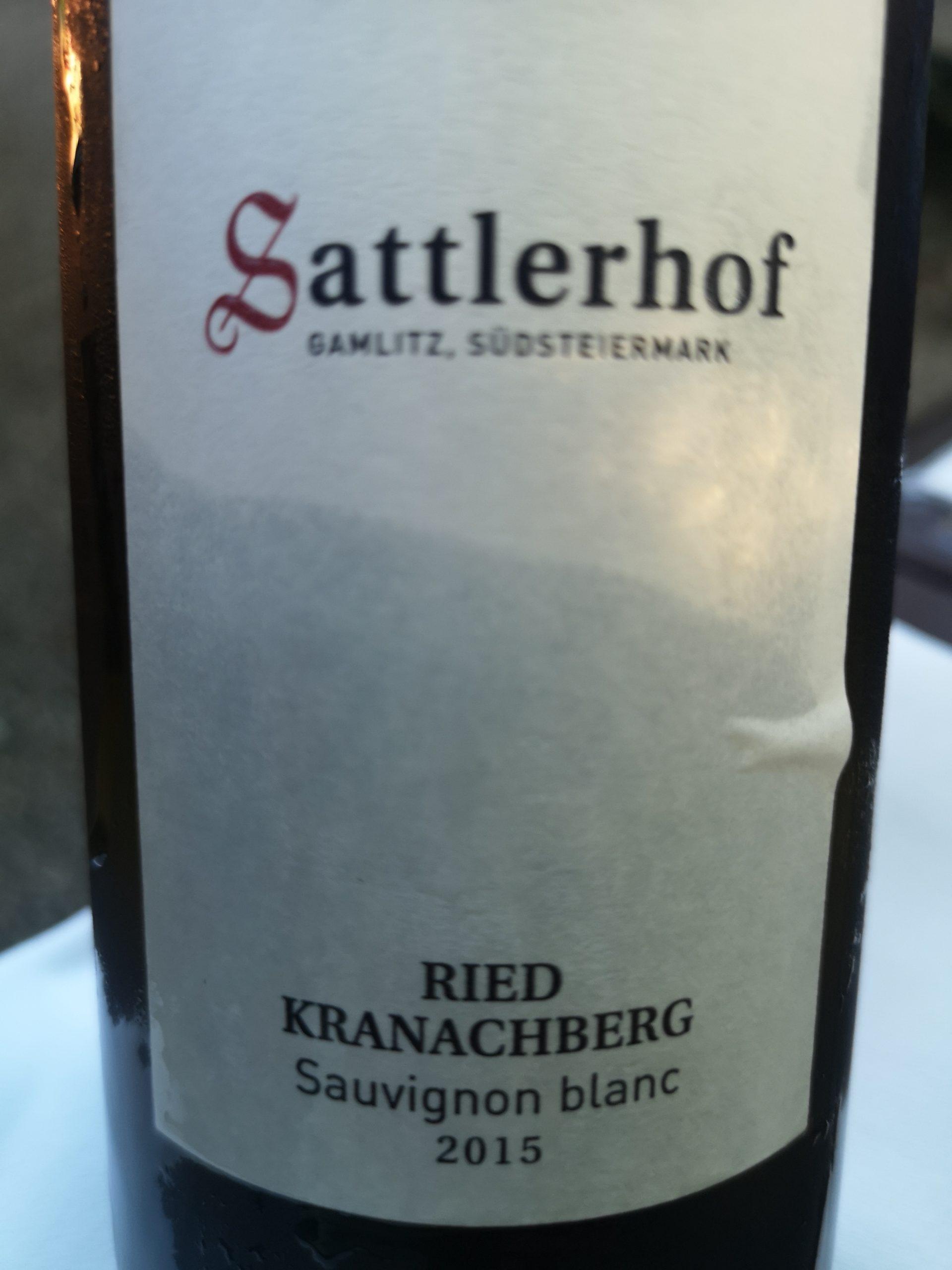 2015 Sauvignon Blanc Kranachberg   Sattlerhof