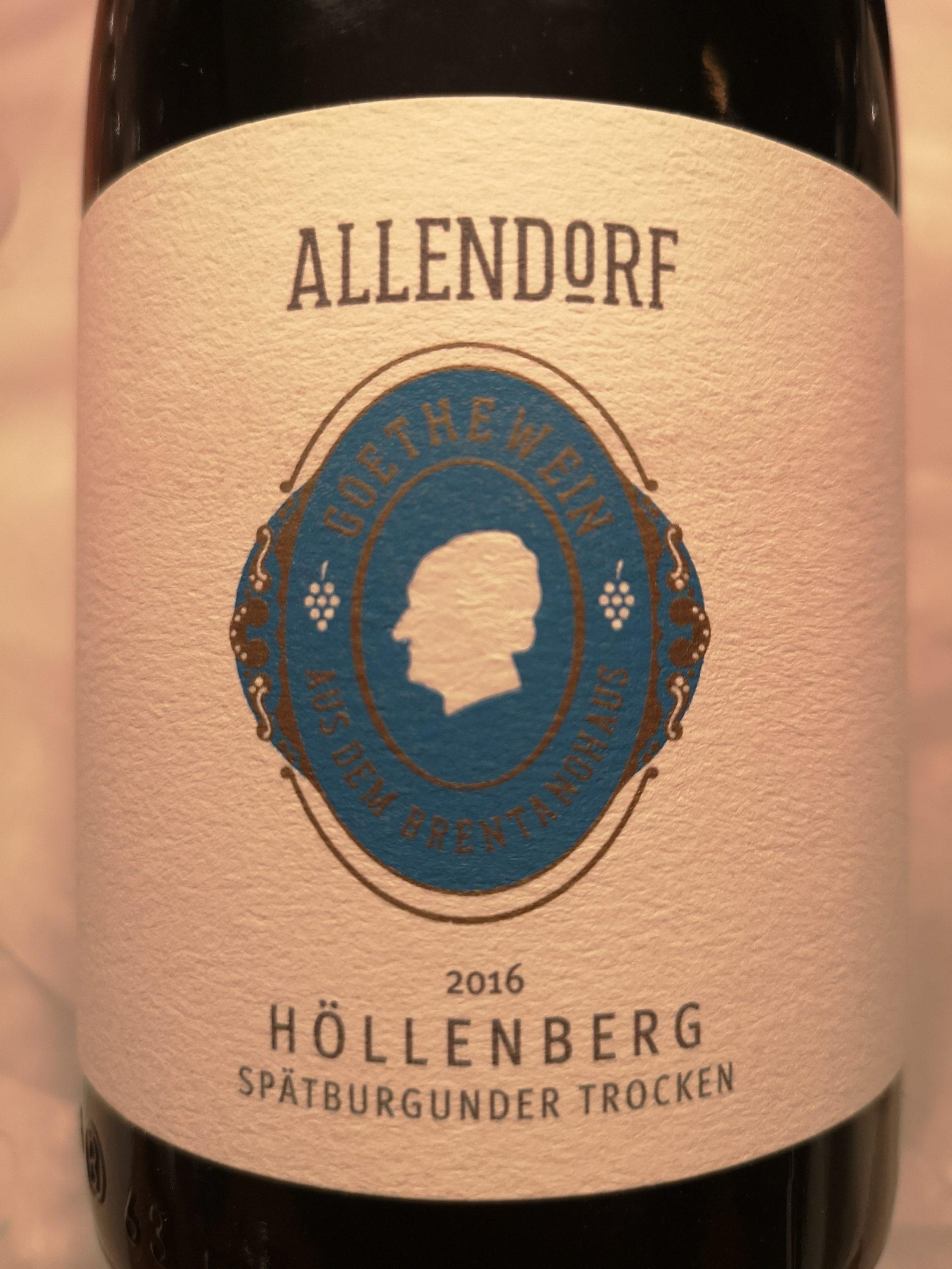 2016 Spätburgunder Höllenberg GG Goethewein | Allendorf