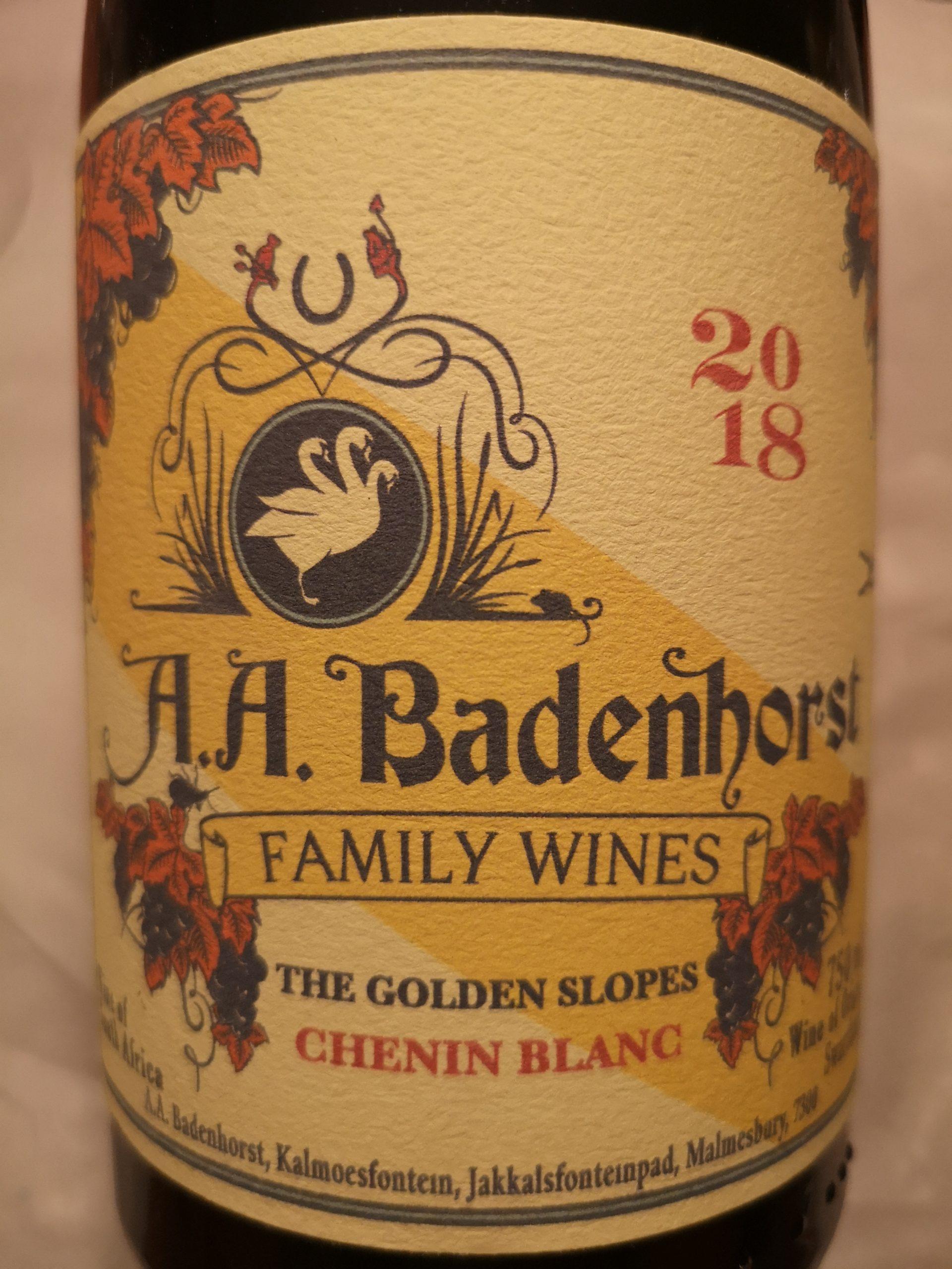 2018 Chenin Blanc Golden Slopes | A.A. Badenhorst