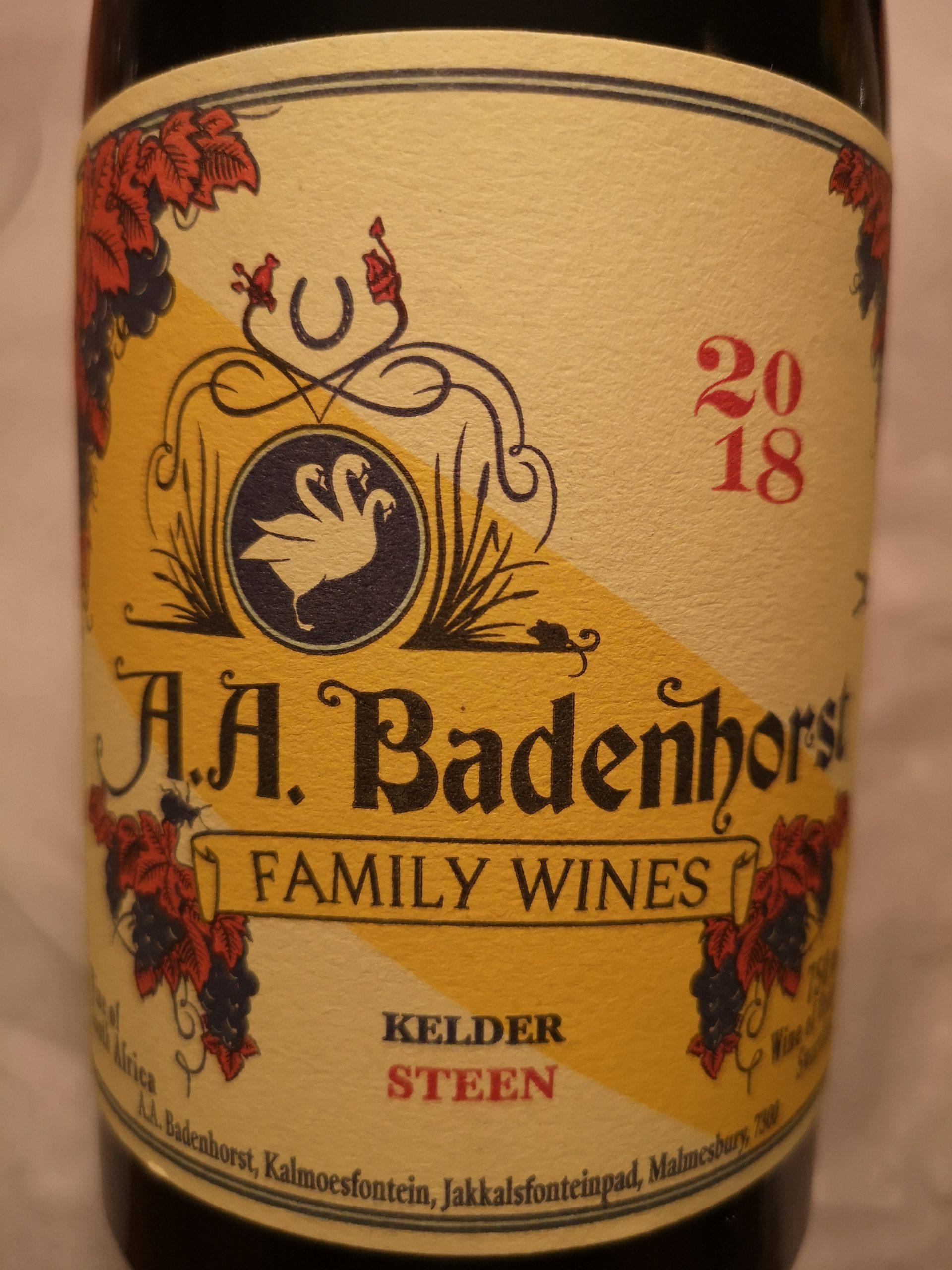 2018 Chenin Blanc Kelder Steen | A.A. Badenhorst
