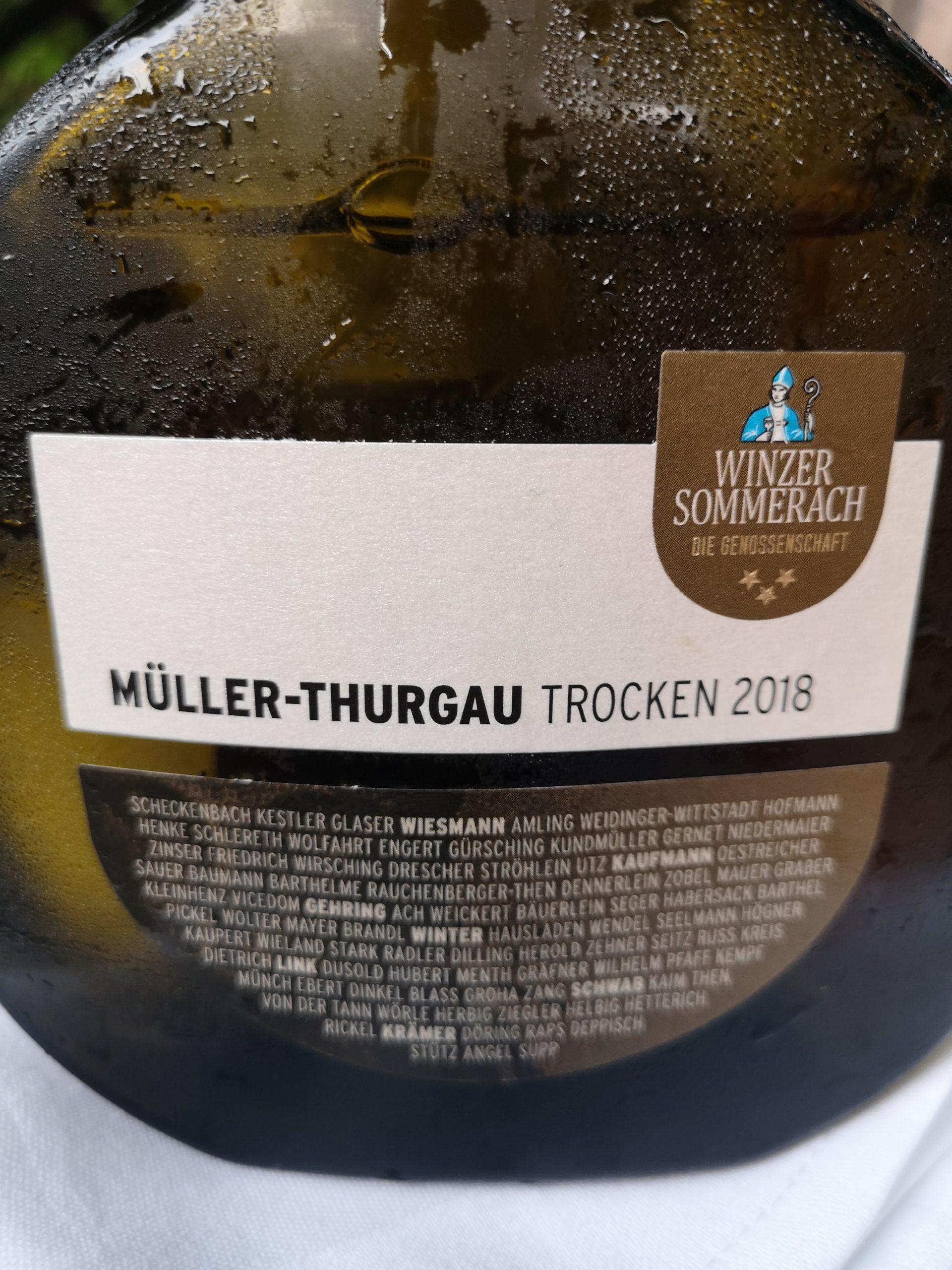 2018 Müller-Thurgau | Winzergenossenschaft Sommerach