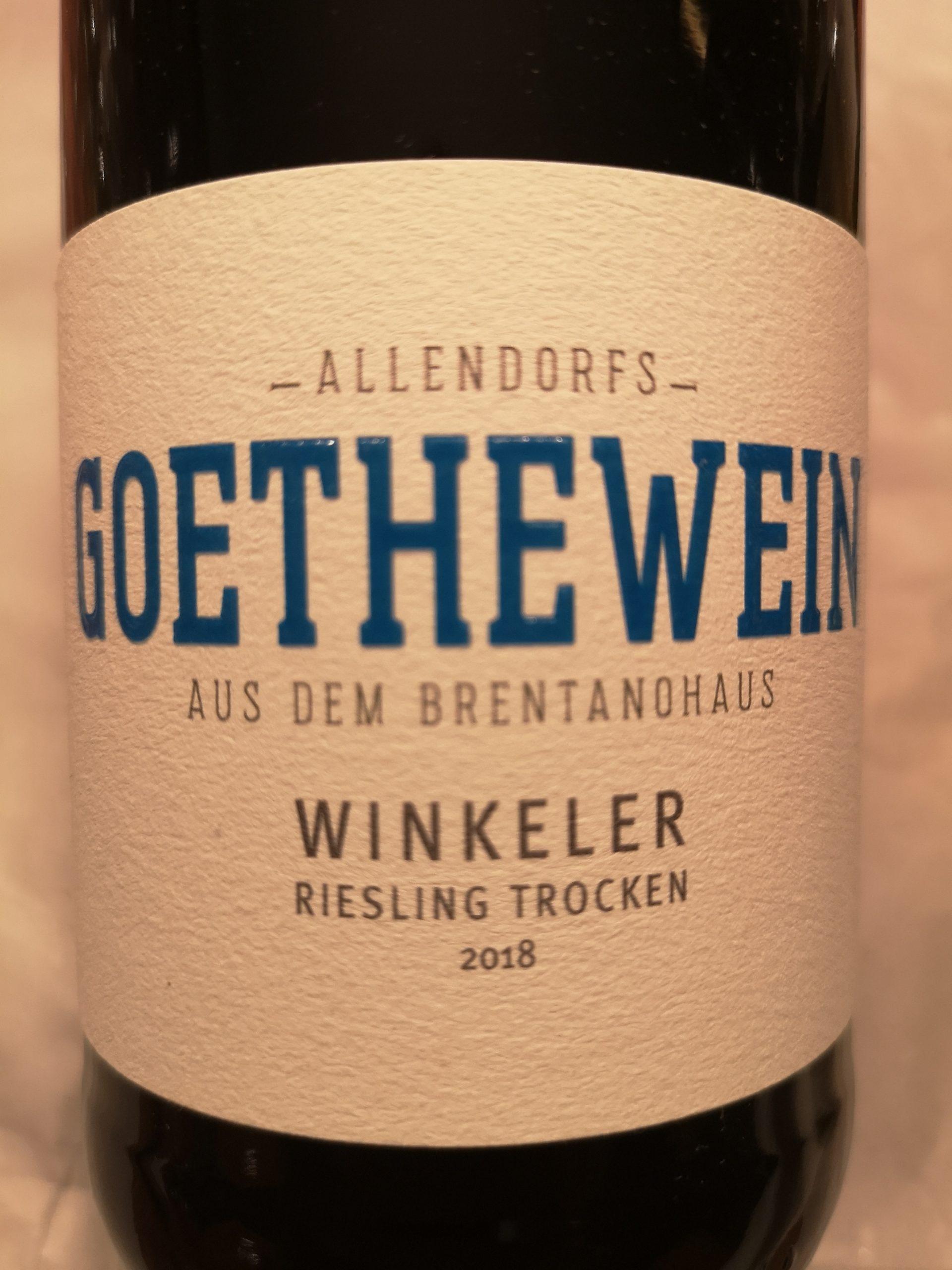 2018 Riesling Winkeler Goethewein | Allendorf