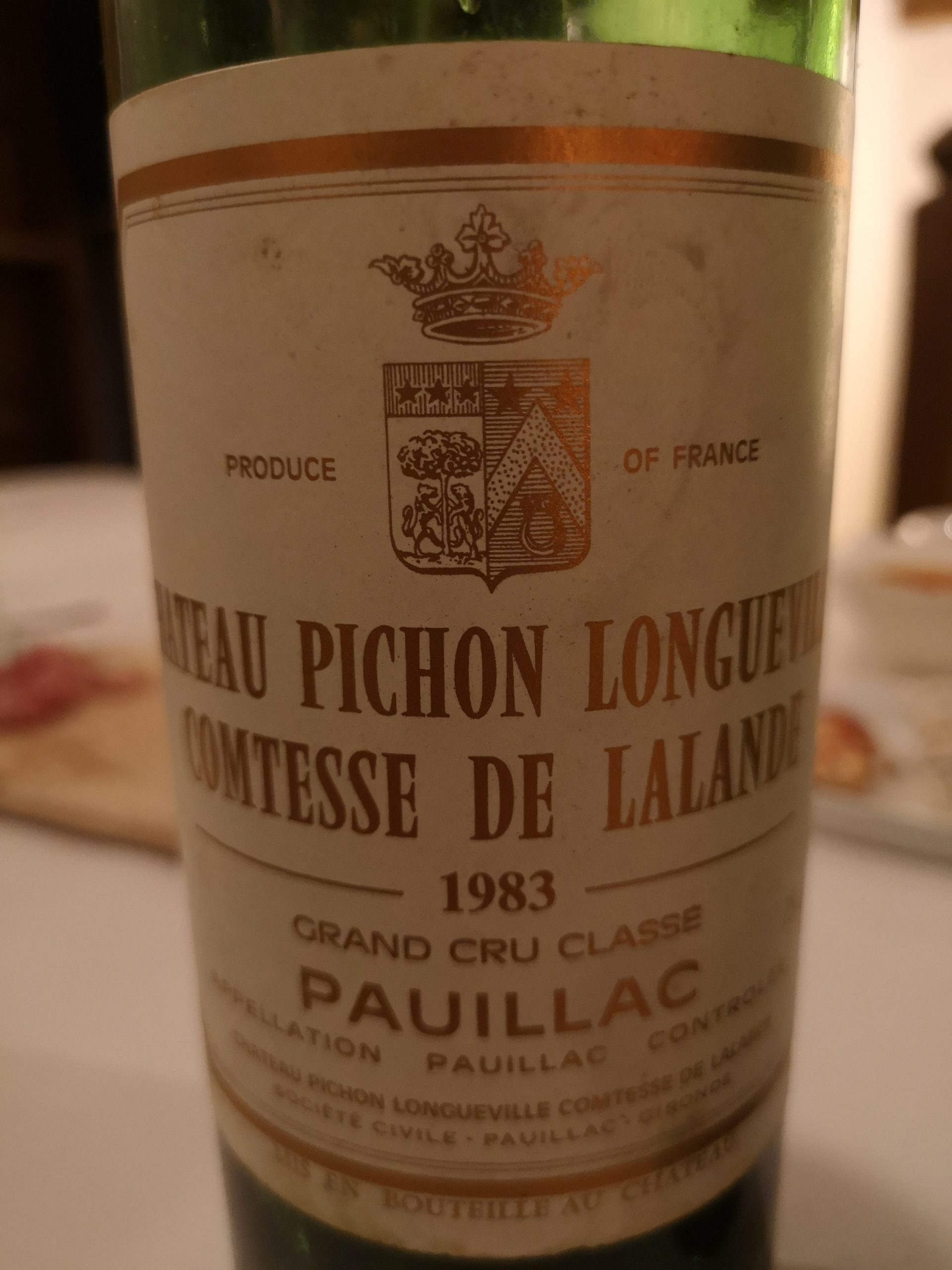 1983 Comtesse de Lalande   Château Pichon Lalande