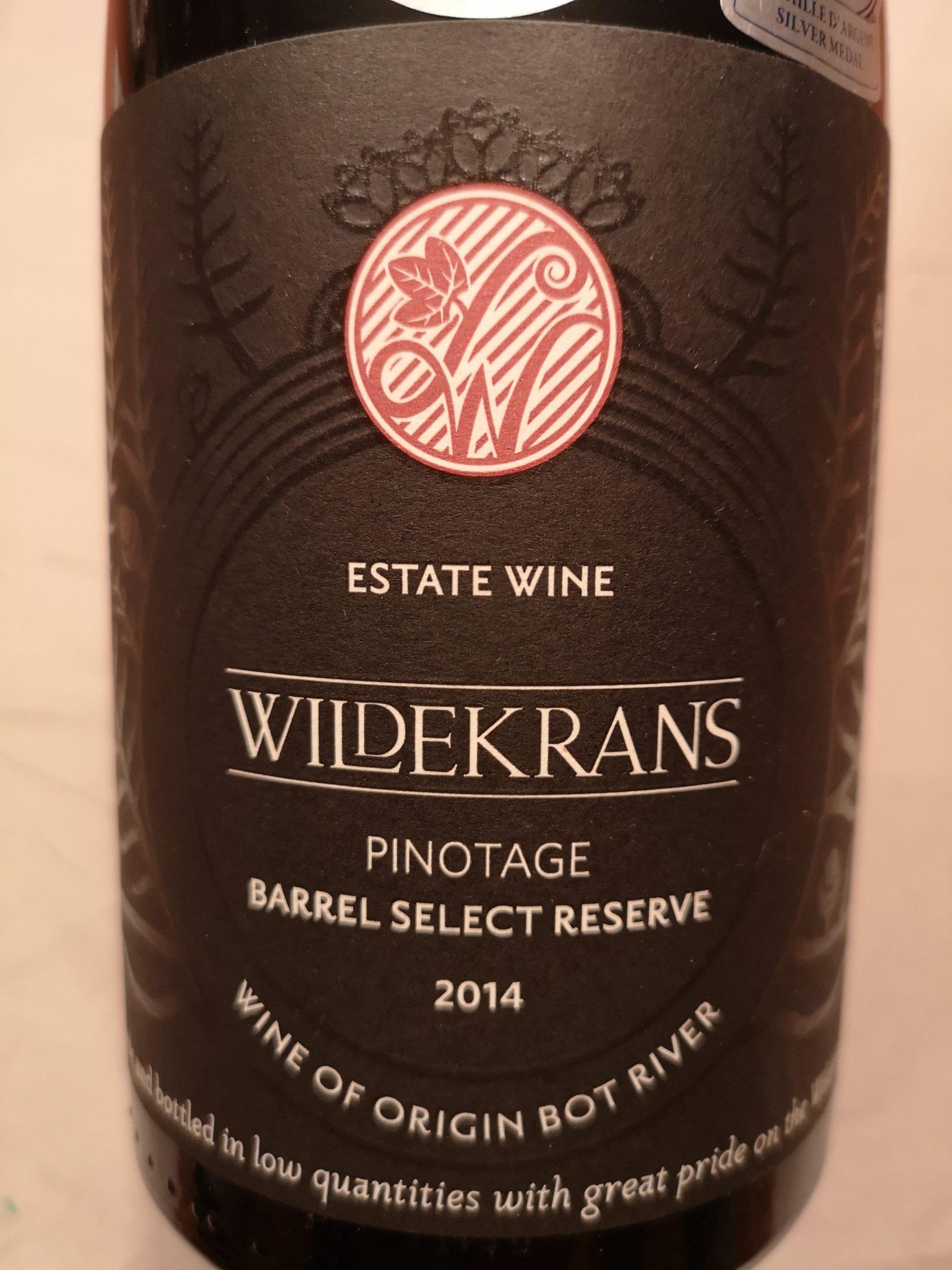 2014 Pinotage Barrel Select | Wildekrans