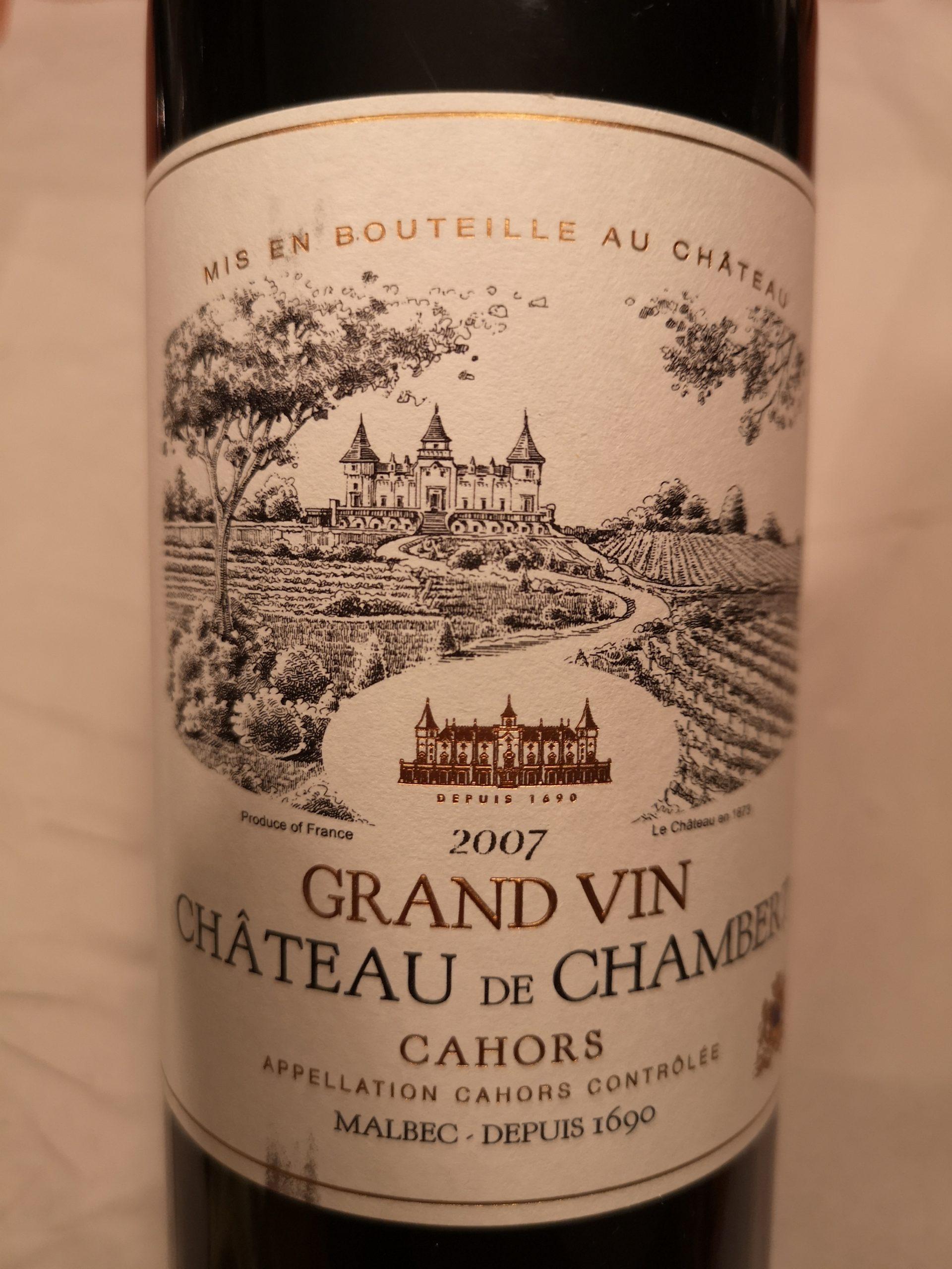 2007 Malbec Grand Vin   Château de Chambert