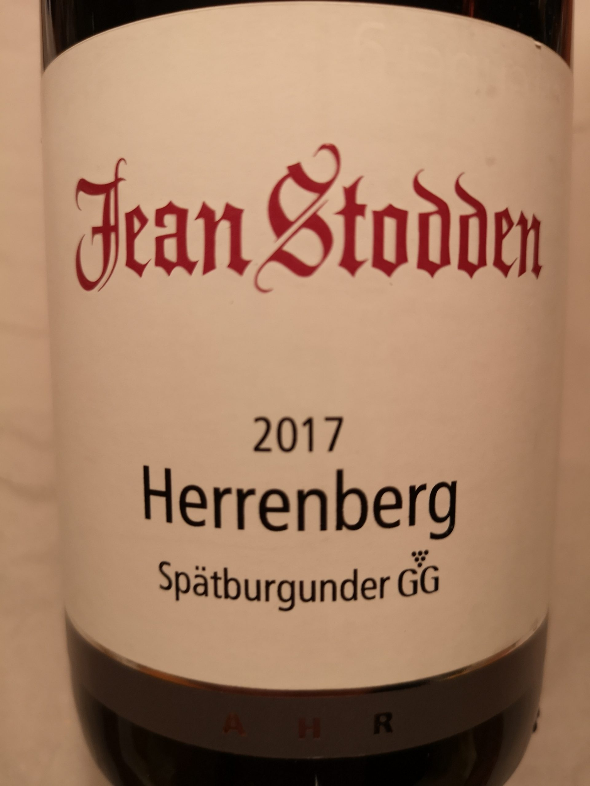 2017 Spätburgunder Herrenberg GG | Jean Stodden