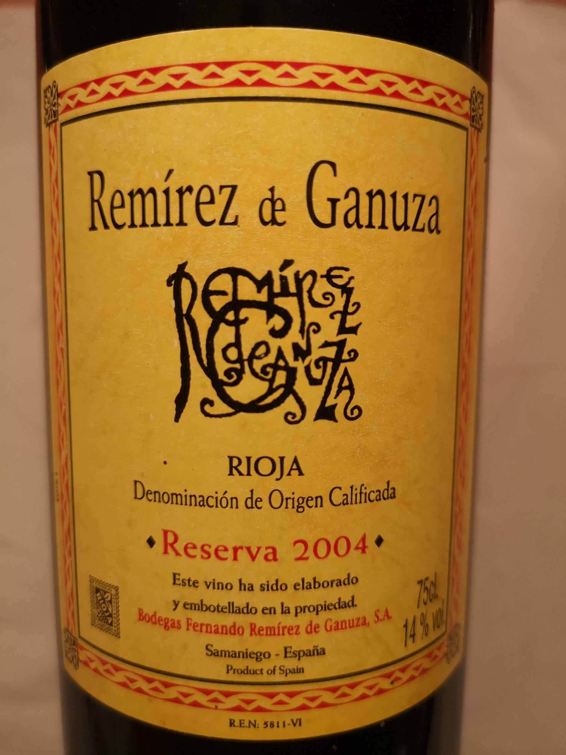2004 Remírez de Ganuza Reserva | Remírez de Ganuza