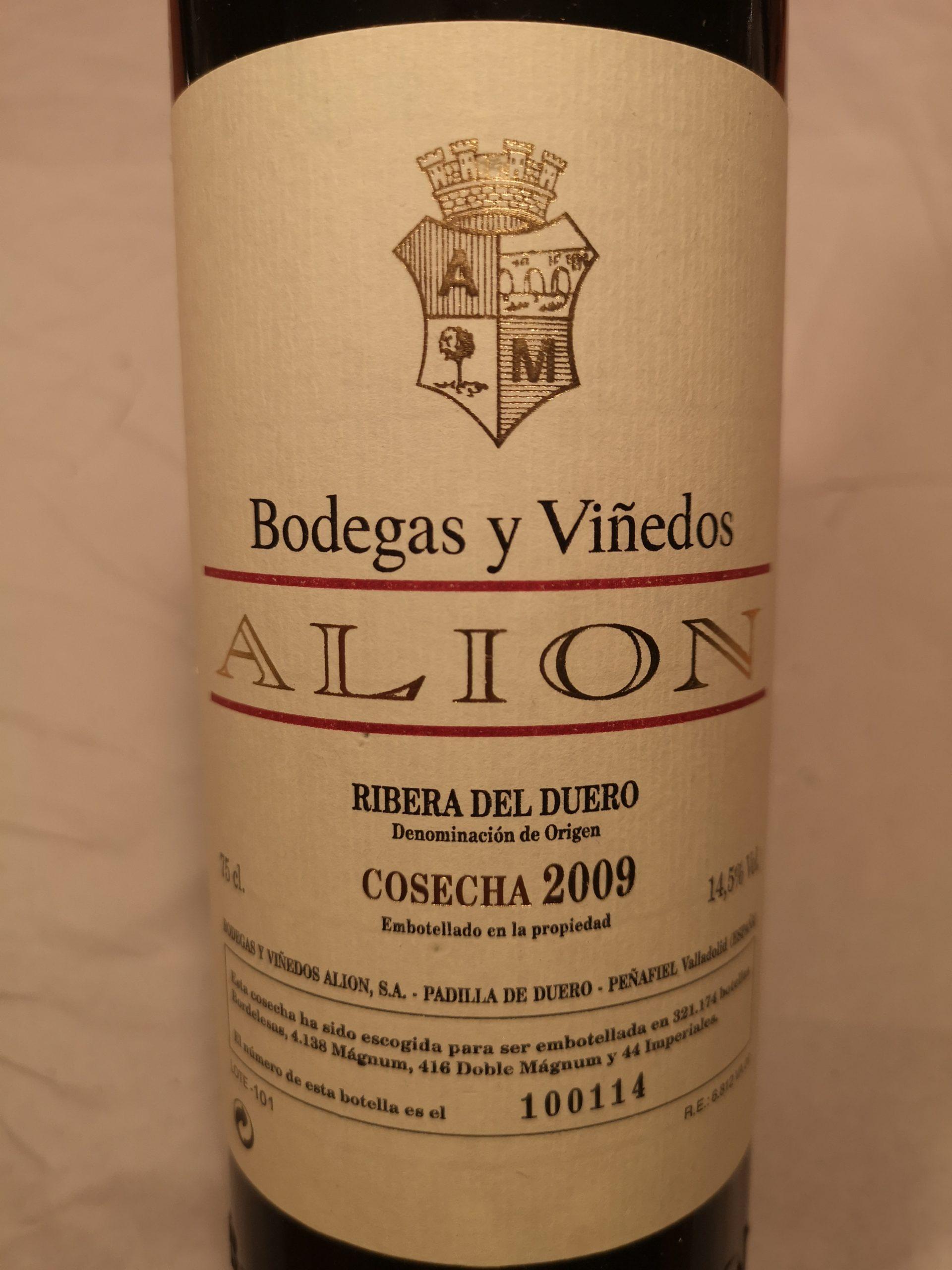 2009 Alion | Bodegas Alion