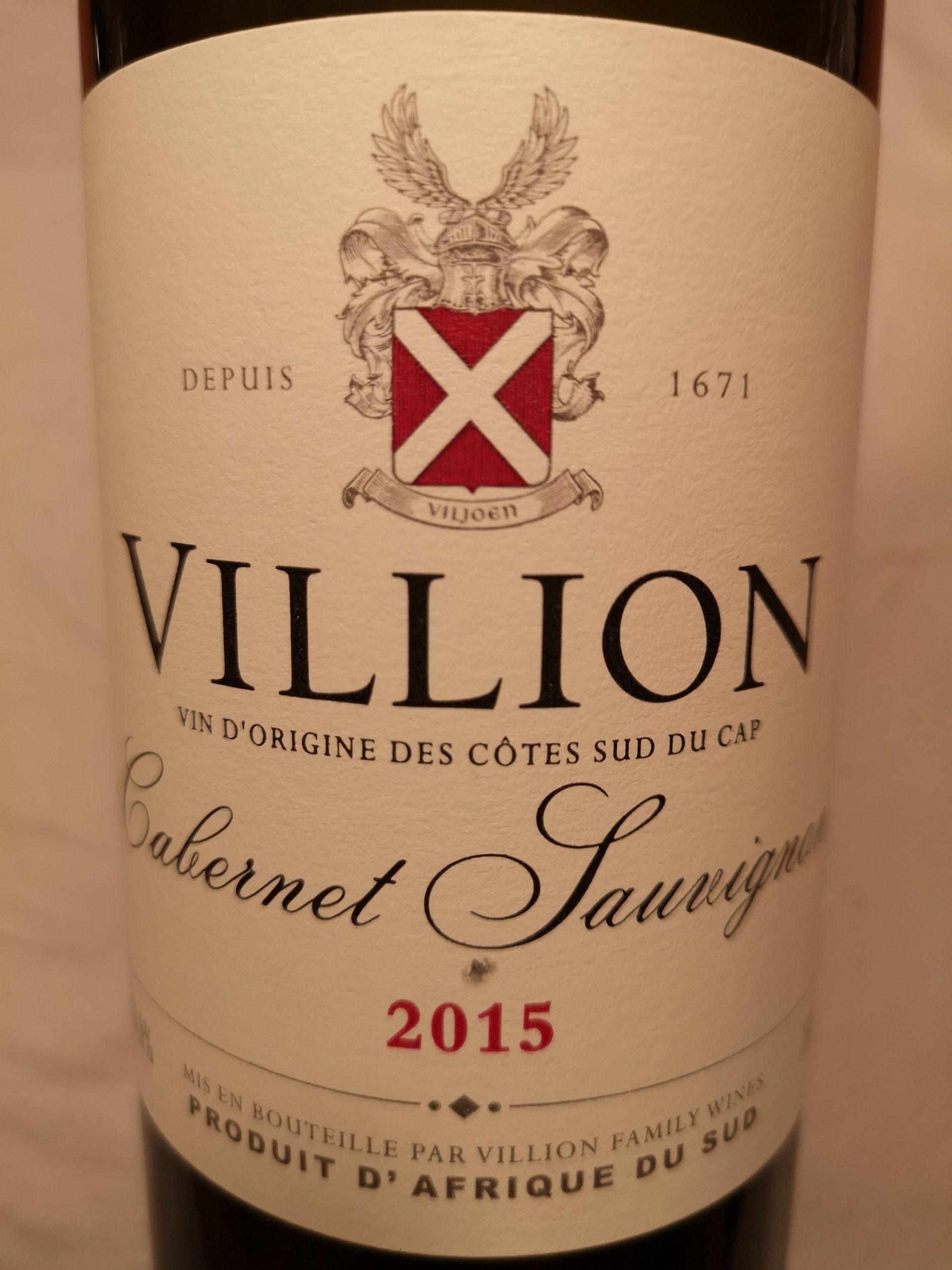2015 Cabernet Sauvignon | Villion