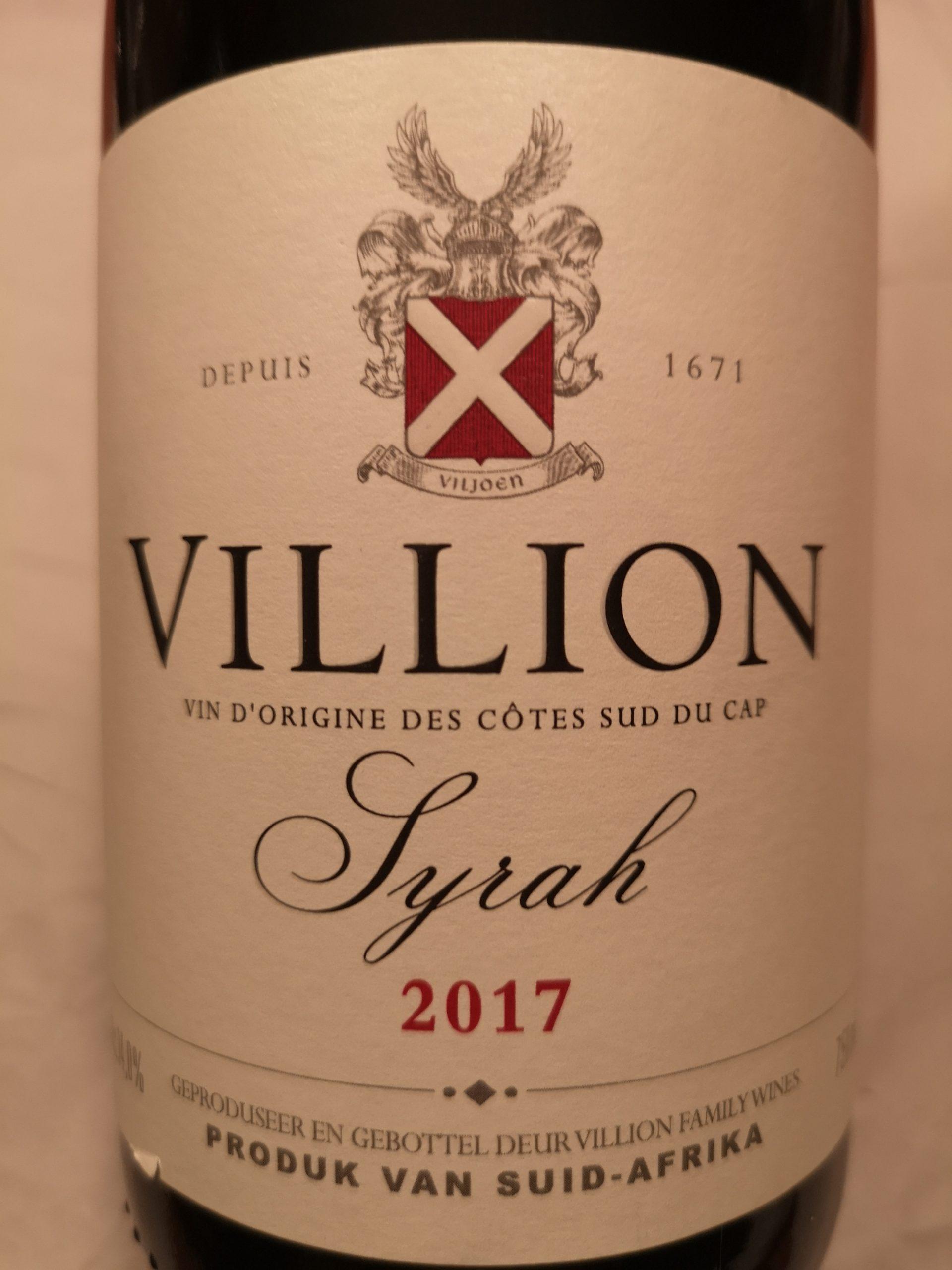 2017 Syrah | Villion