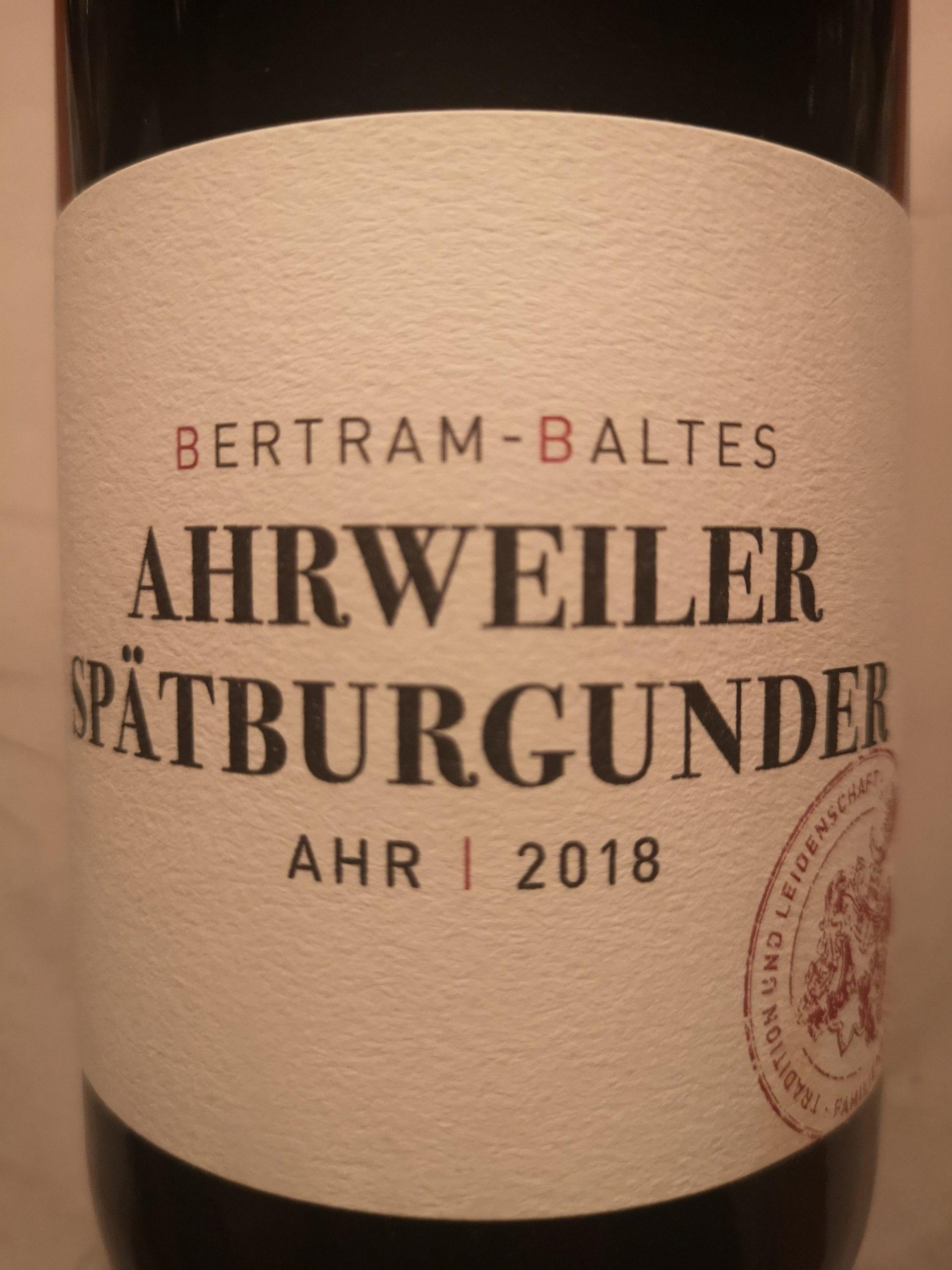2018 Spätburgunder Ahrweiler trocken | Bertram-Baltes