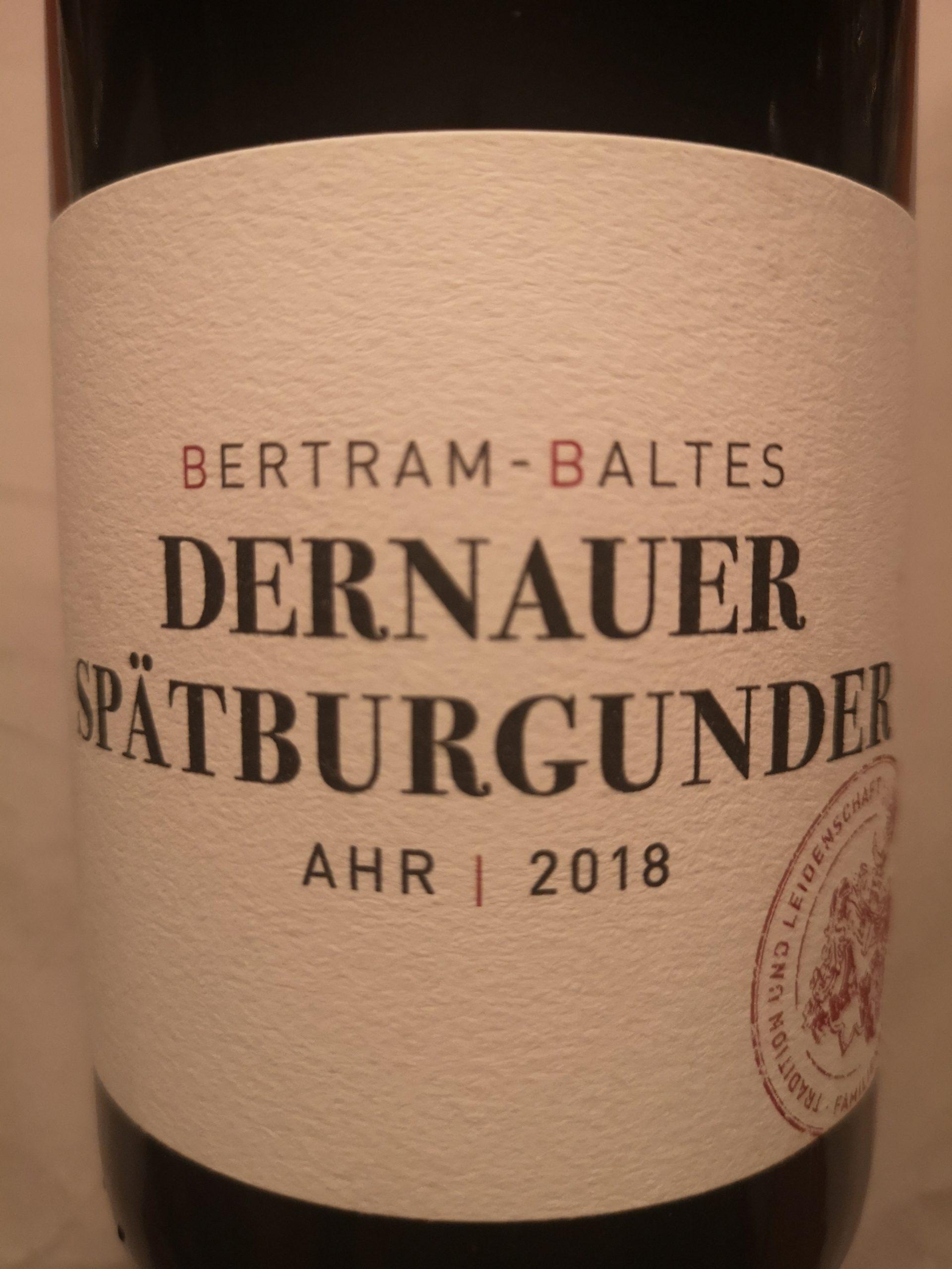 2018 Spätburgunder Dernauer trocken | Bertram-Baltes
