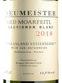 2018 Sauvignon Blanc Ried Moarfeitl | Neumeister