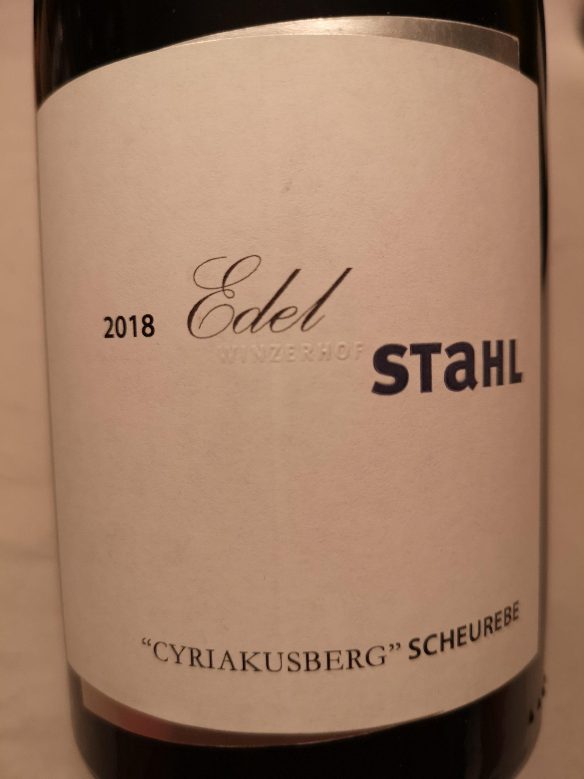 2018 Scheurebe EdelStahl Cyriakusberg | Stahl