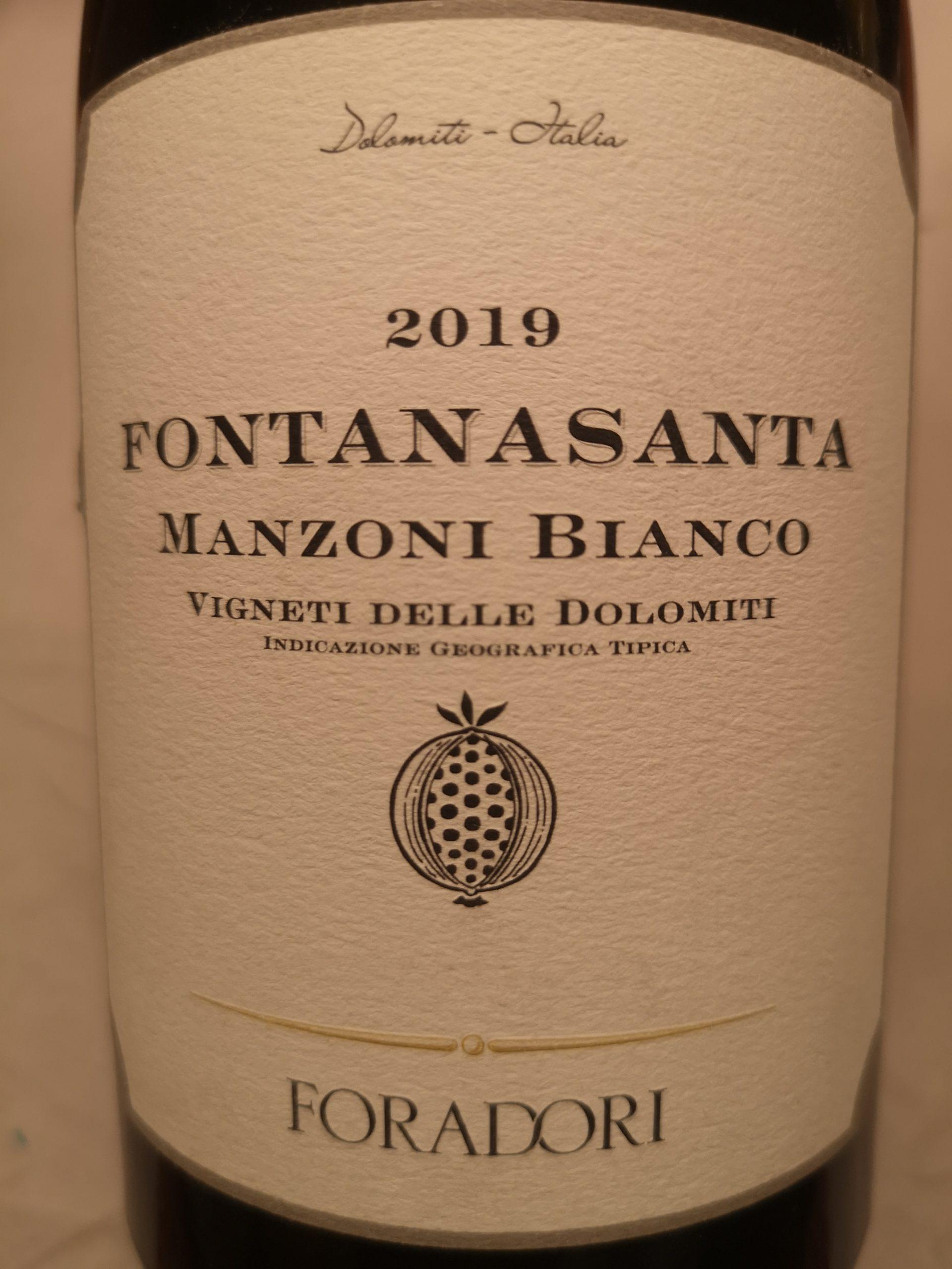 2019 Fontanasanta Manzoni Bianco   Foradori