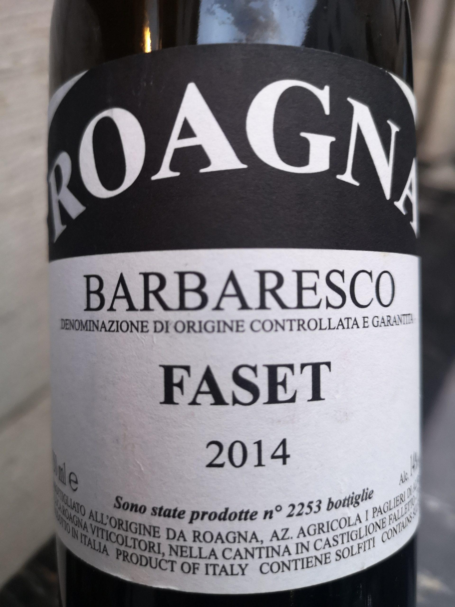 2014 Barbaresco Faset | Roagna