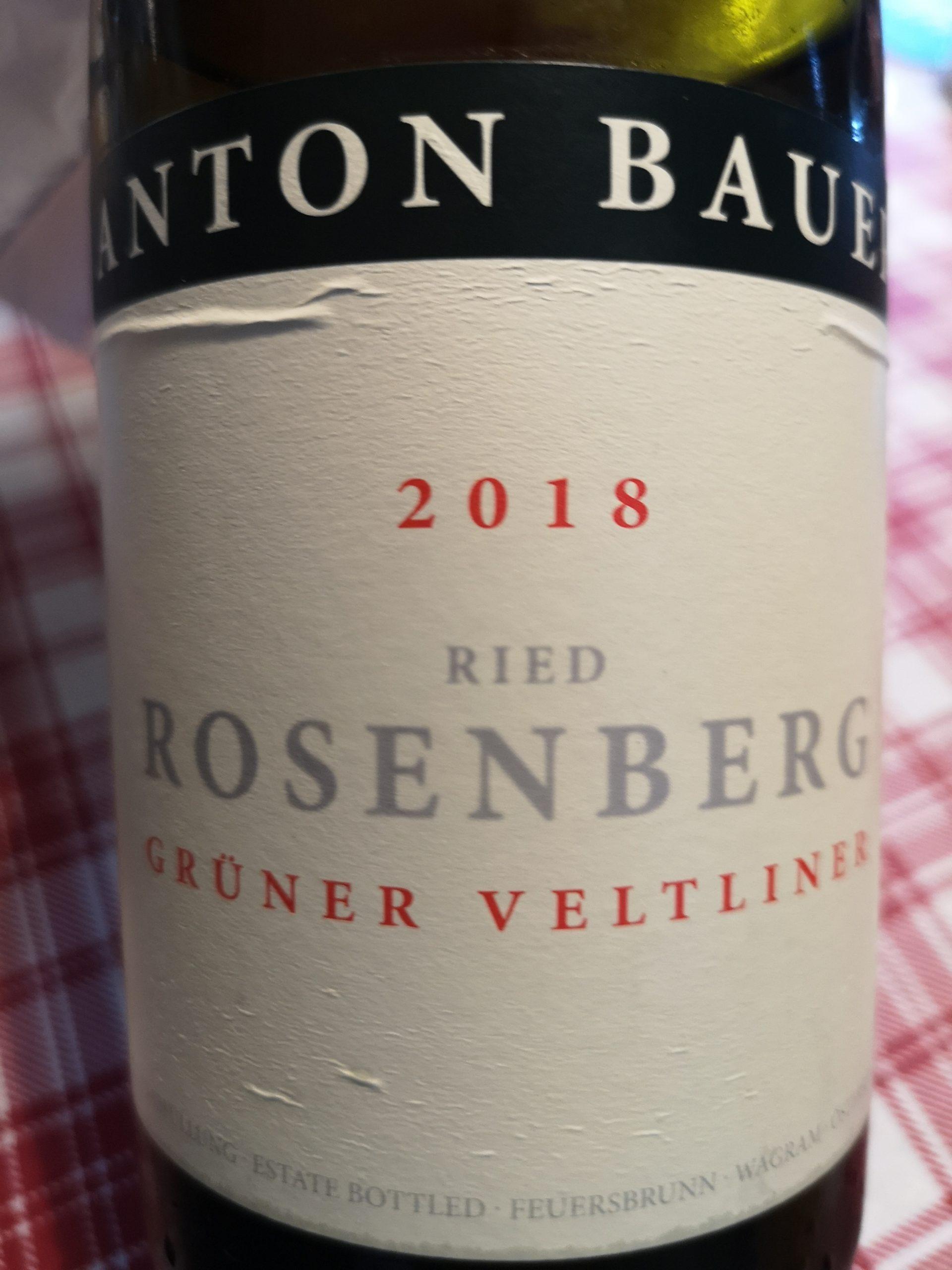 2018 Grüner Veltliner Rosenberg | Anton Bauer