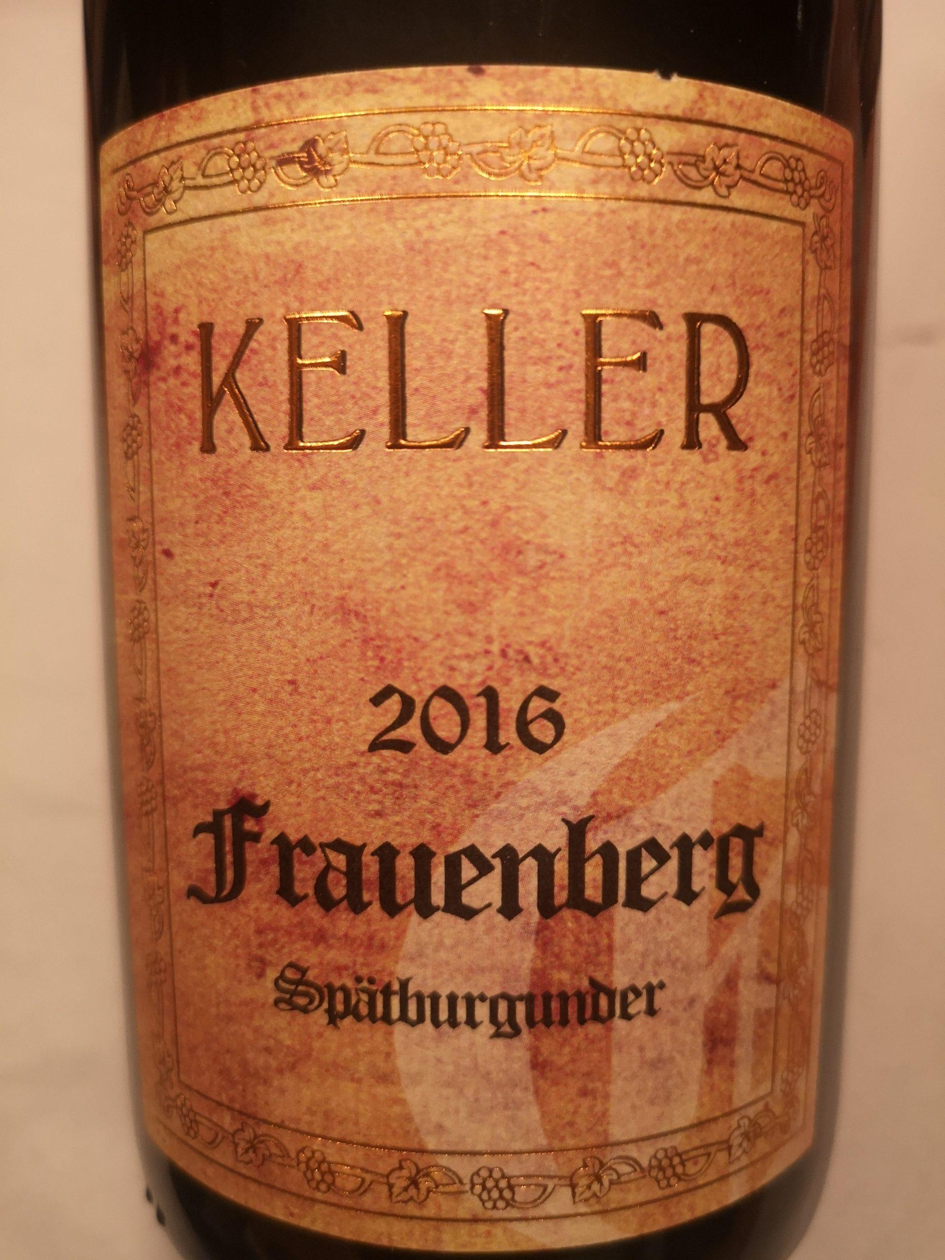 2016 Spätburgunder Frauenberg GG   Keller