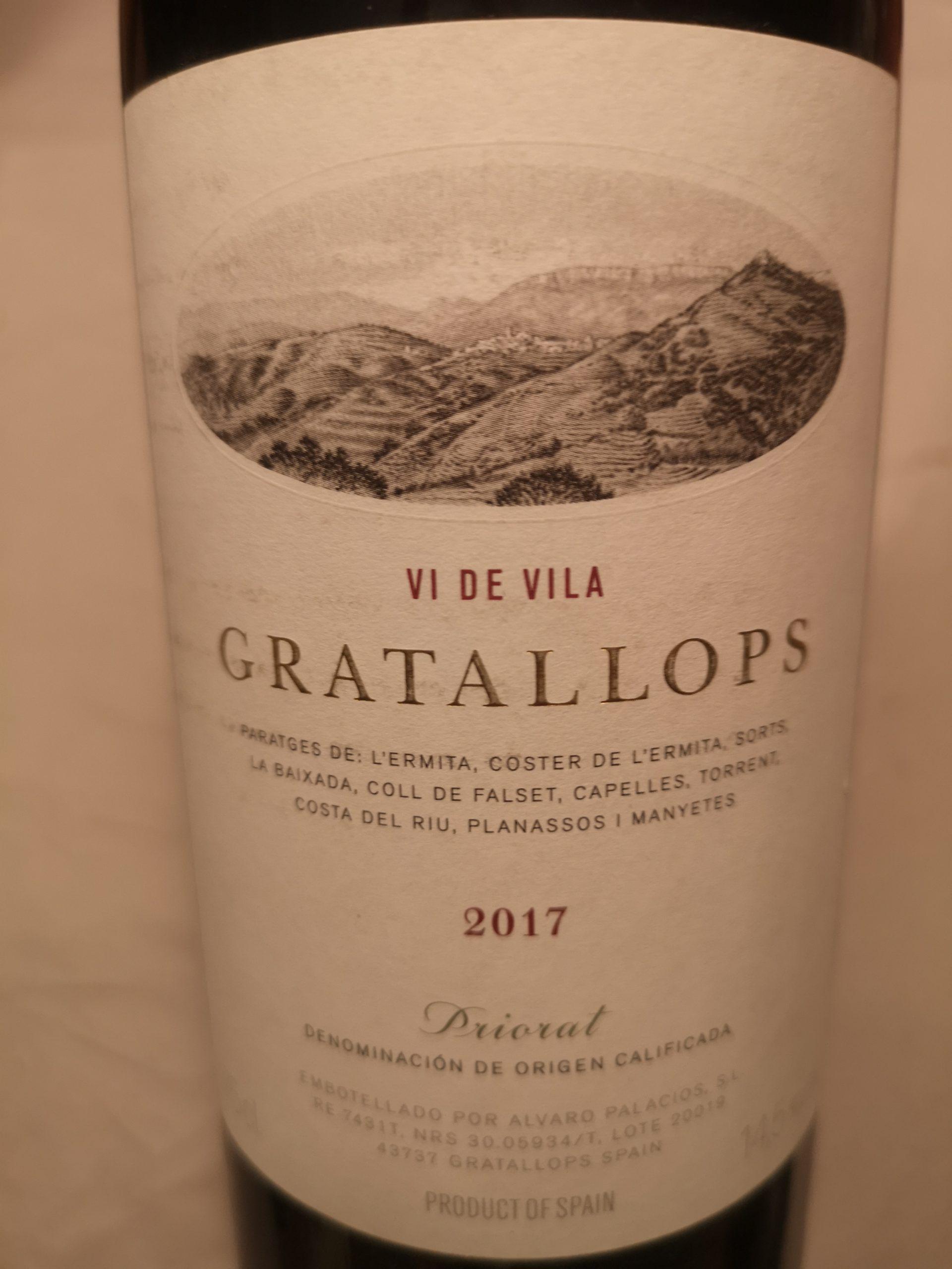 2017 Gratallops Vi de Vila | Palacios