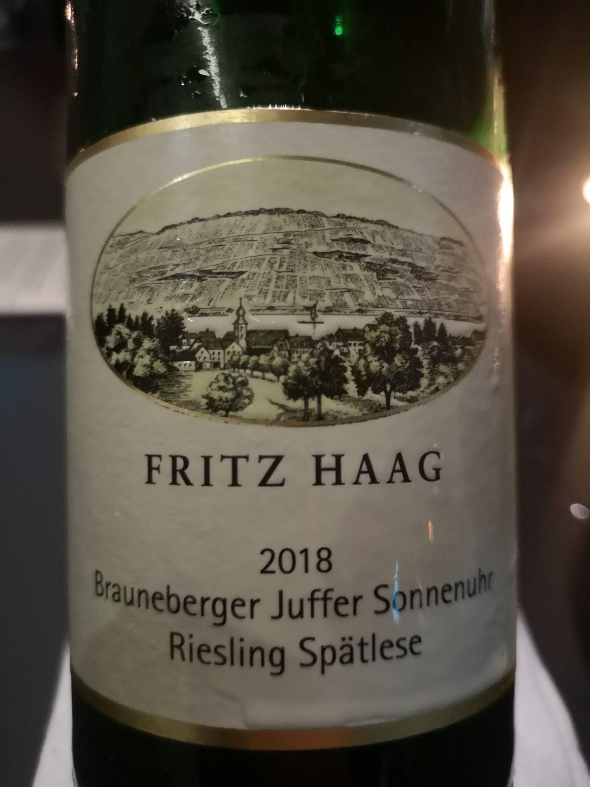 2018 Riesling Spätlese Brauneberger Juffer | Fritz Haag