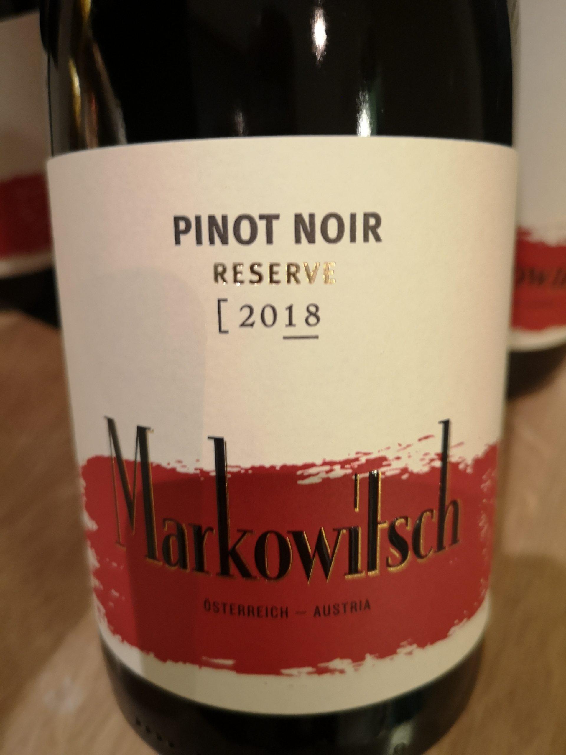 2018 Pinot Noir Reserve | Markowitsch